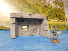 1:72 -1:87, 1 kleine Betonbunkerfront (Eingegraben) WWII, unbemalt Diorama +NEU+