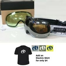 NEW Electric EG3 Whistler LTD Silver mens snowboard goggles +free lens Msrp$220