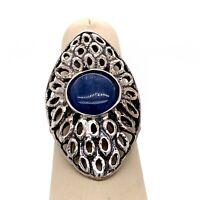 Sterling Silver & Gemstone Israel RL Woman's Size 7 Ring! 239
