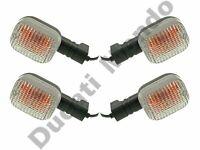Set of four clear indicators Cagiva Ducati turn signal blinker winker front rear