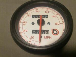 160 MPH CEV Speedometer Contamiglia - BIMOTA YB9 SR SRI - OEM & NEW !