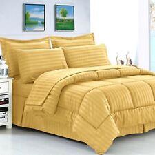 1000 Count Egyptian Cotton US Sizes Gold Stripe Down Alternative Comforter
