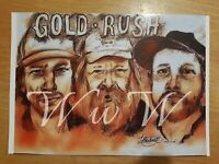Gold Rush Parker ,Tony & Rick Glossy A4 Art PRINT unique Christmas gift idea