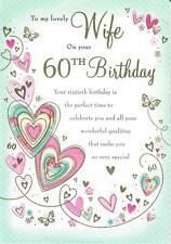 Beautifully Worded To My Lovely Wife On Your 60th Birthday Greeting Card
