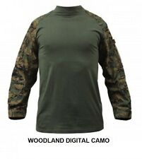 DIGITAL Camo COMBAT SHIRT US Marine Corps MARPAT Woodland or Desert USMC Hunting