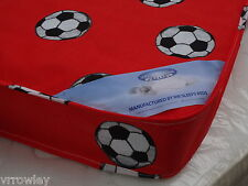 2FT6 SHORTY SHORT SINGLE  BUDGET CHEAP MATTRESS RED FOOTBALL BRAND NEW
