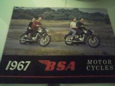 Vintage 1967 BSA motorcycle sales brochure(Reprint) All 1967 Model BSA's $17.50