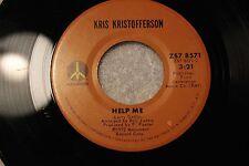 "KRIS KRISTOFFERSON 45rpm ""Help Me"" & ""Why Me"" 1972 Monument  RECORDS ZS7 8571"