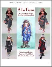 """""""A La Ferme"""" Fashion Pattern for Kish Chrysalis Dolls"""