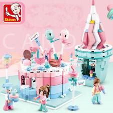 2 juegos niños juguetes de construcción bloques Chicas Puzzle Pastel Icecream SLUBAN Sin Caja