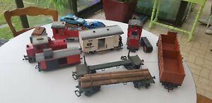 3 locomotives diesel + 6 wagons divers ; marque LGB echelle : G