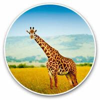 2 x Vinyl Stickers 7.5cm - Giraffe Wild African Animal Cool Gift #16586