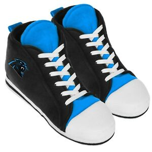 Carolina Panthers High Top Sneaker SLIPPERS New - FREE U.S.A. SHIPPING