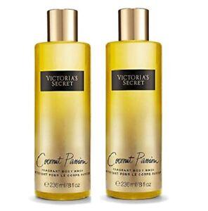 Victoria's Secret Coconut Passion Fragrant Body Wash 8.4 fl oz x2