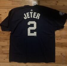 Derek Jeter New York Yankees Majestic Jersey T-shirt Captain Edition Mens 2XL