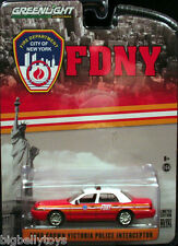 2014 Greenlight Collectibles FDNY Ford Crown Victoria Police Interceptor EMS EMT