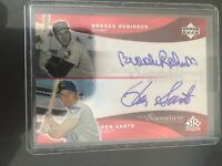 2005 Upper Deck Reflections Dual Signatures Red Ron Santo Brooks Robinson 72/99