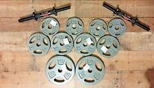 50Lb Total Adjustable Cap Dumbbell Set (2) 10Lb Plates 4- 5Lb 4-2.5LB 2 Handles