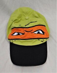 Teenage Mutant Ninja Turtles/TMNT Baseball Hat/Cap--Green/Orange--Boys One Size