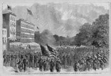 PENNSYLVANIA AVENUE WASHINGTON D. C. NATIONAL ARMIES SHERMAN GRAND REVIEW FLAGS