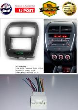 Harness + Fascia facia Mitsubishi ASX 2010+ Double 2 Din Dash Panel Stereo DVD