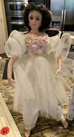 Paulette Aprile for Seymour Mann Porcelain Doll w/ Stand and Box 1992~STUNNING!