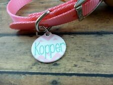 Personalized Pink chevron pet tag, dog tag, cat tag, pet lover, pet id, name tag