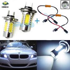 HID White H7 CREE LED Bulb Kit For BMW 3 5 Series Daytime Running Light Lamp