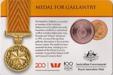 2017 Australian Medal for Gallantry 25 cent carded coin UNC