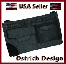 Black Ostrich Sun Visor Organizer Keeps Auto/Car/Truck/RV Neat Multi Pockets/Pen