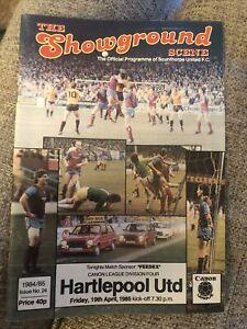 Scunthorpe United V Hartlepool United 19/4/85 1985 Match Programme