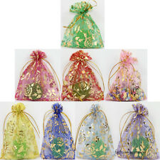 100/25PCS Sheer Organza Wedding Favours Gift Packaging Bags Candy Wrapping