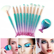 11PCS Mermaid Makeup Brushes Foundation Eyebrow Eyeliner Makeup Tool