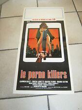 LOCANDINA,1980,Le porno killers,CARMEN RUSSO,ROBERTO MAURI,LODETTI,EROTICO