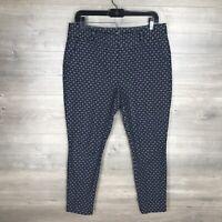 """Ann Taylor LOFT Women's 10P Petite Marisa Skinny Crop Pants Printed 26"""" Inseam"""