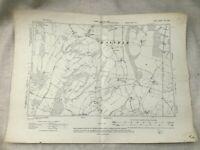 1908 Antique Map of Canterbury Waltham Village Kent County Old Original