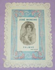 4106/ ANCIEN PAPIER A LETTRE? DECOR ART NOUVEAU BORD DENTELLE JOSE MONCHO PALMAR