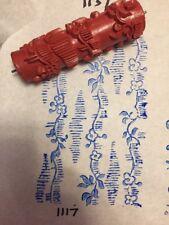Vintage Germany German Rubber Stencil Paint Roller, Stencil