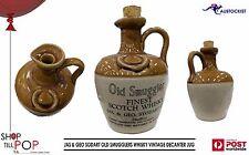 JAS & GEO SODART Old Smugglers Whisky Jug Decanter 1 litre Earthenware Man Cave