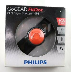 Philips GoGear Mini 4GB Sound-Dot Portable MP3 Player W/Headphone 1000 Songs New