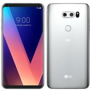 LG V30 - 64GB - Cloud Silver - Factory Unlocked - Smartphone - Very Good