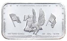 Fractional 1 Oz Silver Breakable International Trade Unit .999 Fine Art Bar *185