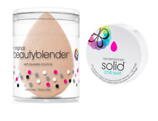 Authentic BeautyBlender Nude Makeup Sponge & Solid Cleanser Latex Free