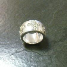 Breiter Silberring Joop! Kreuze 925er Sterling Silber + Zirkonia Ring Gr. 54