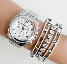 Original Michael Kors Uhr Damenuhr MK5165 BLAIR in Farbe:Silber Kristall NEU