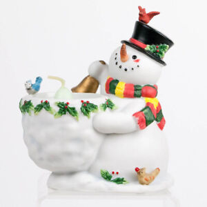 PartyLite SNOWBELL NIB Candle Votive Holder P9890 Holiday Snowman Center Piece