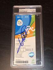 Usain Bolt Signed Rio 2016 Olympics Track N Field Ticket Psa Dna Cert