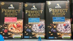 Quaker Perfect Blends Multigrain Porridge No added Sugar Assorted Flavors NEW