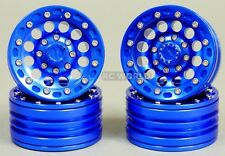 RC 1/10 Scale METAL Truck Rims Wheel 1.9 BEADLOCK Rims w/ Metal Rings BLUE 4PCS