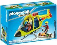 PLAYMOBIL Helikopter der Bergrettung ab 4 Jahren Mit Seilwinde u. Transporthaken